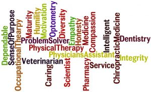 Prehealth careers in a word picture